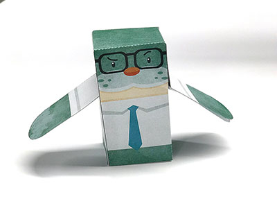 Seth the Seal of Approval as a Papercraft